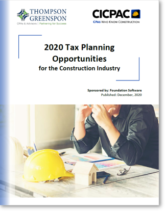 2020 Tax Planning Opps for Construction