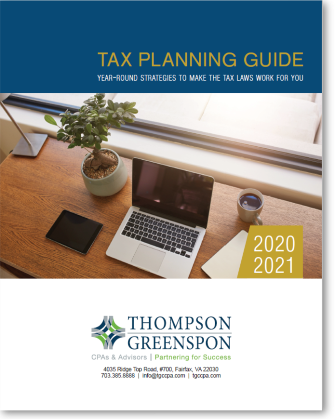 2020-21 Tax Planning Guide